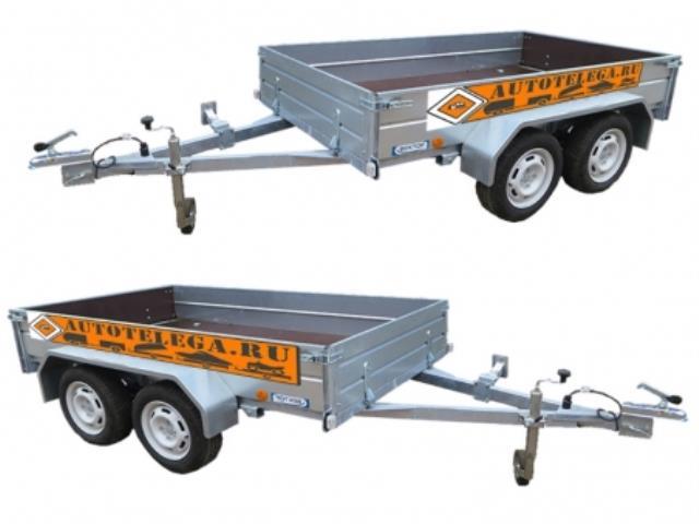 Прицеп автомобильный ЛАВ 81013А с увеличенным бортом (3500х2000х400)