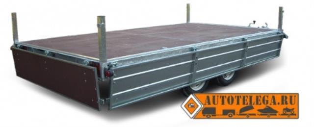 Прицеп ЛАВ-81013Д с высоким бортом 400 мм (кузов 3550х2260)