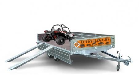 Прицеп ЛАВ 81013С для перевозки грузов и техники (кузов 3555х2000х240)